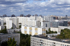 City landscape - the Southwest of Moscow. Russia. View from the window on the city Stock Photo