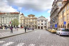 City landscape. Streets of Prague Royalty Free Stock Photography