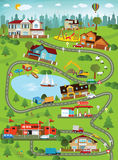City landscape (summer day). Vector illustration -  summer city landscape Stock Images