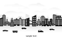 City landscape. A vector illustration of a night time city skyline Stock Photo