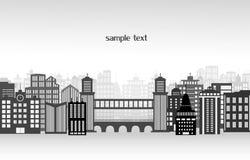 City landscape. A vector illustration of a night time city skyline Royalty Free Stock Photos