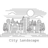 City landscape vector illustration Stock Photos