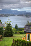 City landscapes of Bergen Royalty Free Stock Image
