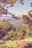 Sydney from Lavender Bay park Royalty Free Stock Image