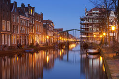 City of Leiden, The Netherlands at night Stock Images