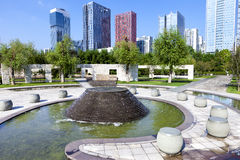City leisure square. Sunshine 100 city leisure square in CBD of Liuzhou,China Stock Photography
