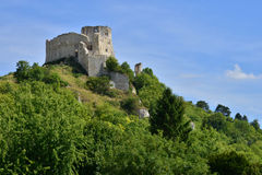 The city of Les Andelys in normandie Royalty Free Stock Photo