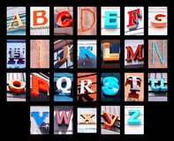 City letters Royalty Free Stock Photography