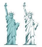 city liberty newyork statue sunset