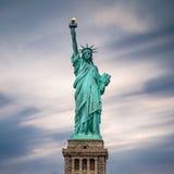 city liberty newyork statue sunset Arkivbilder