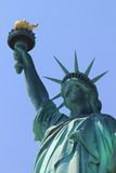 city liberty newyork statue sunset Royaltyfri Foto
