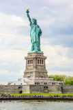 city liberty newyork statue sunset Royaltyfri Foto