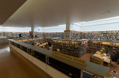 City library of Rovaniemi. The interior of the city library of Rovaniemi in Finland which was designed by the famous architect Alvar Aalto Royalty Free Stock Image