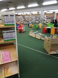 City library in the school. DUISBURG, NRW, GERMANY - 9 Sep. 2017 The city library in the comprehensive school Sued which works for parents and children during Stock Images