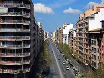 City Life. Street in the city of Palma de MAllorca (Spain Stock Photo