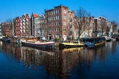 City life in Amsterdam city center Royalty Free Stock Photos