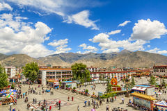 City life around Barkhor Street, Lhasa, Tibet Royalty Free Stock Photo