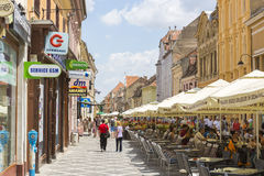City life, Brasov, Romania Stock Image