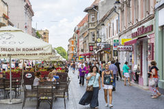 City life in Brasov, Romania Royalty Free Stock Photo