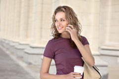 City life and coffee. Royalty Free Stock Images