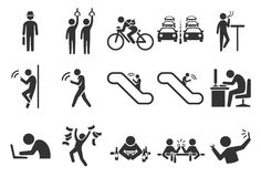 City life icons Royalty Free Stock Photo