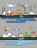City life minimalism illustration Royalty Free Stock Photo