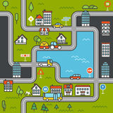 City life minimalism illustration concept Stock Photography
