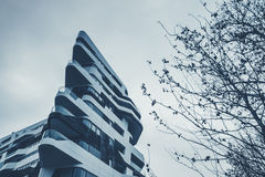 City life and modern architecture in Milan Stock Photo
