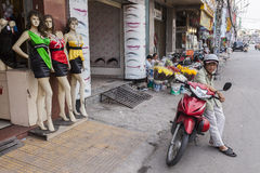 City life on the motorbikes, Vietnam Royalty Free Stock Images