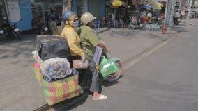 City life on the motorbikes, Vietnam stock footage