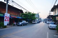 City life of people at morning time at Phrae Royalty Free Stock Photo