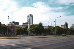City life and street view in Buenos Aires stock photography
