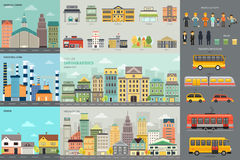 City Life and Transportation Infographic Elements Royalty Free Stock Photo