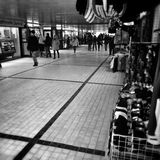 City life, underpass. Artistic look in black and white. Stock Image