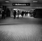 City life, underpass. Artistic look in black and white. Stock Images