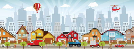 City life stock illustration