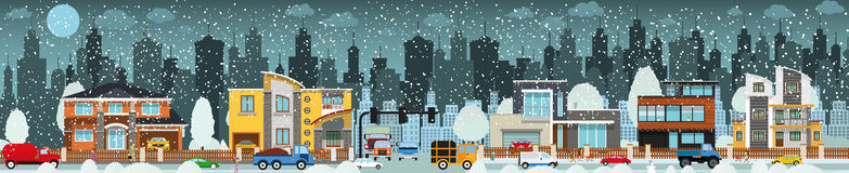 City life (Winter) Stock Photos