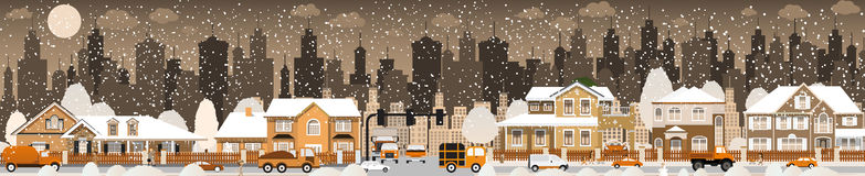 City life (Winter) Royalty Free Stock Photo