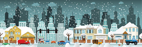 City life (Winter) Stock Photo