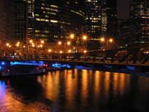 City Light. Cityscape from downtown Chicago stock photo