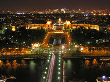 City of light. Night view of Paris from Eiffel tower Royalty Free Stock Images
