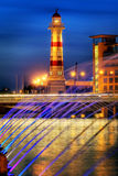 City Light. Colourful scenery in southern city in Sweden Royalty Free Stock Photos