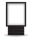 City light black billboard. Illustration Stock Photography