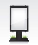 City light black billboard. On white background Royalty Free Stock Photography