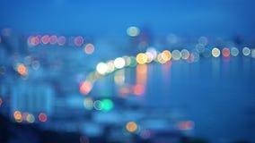 City light blur bokeh defocused background Stock Images