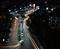 City Light with Traffic Congestion Royalty Free Stock Photo