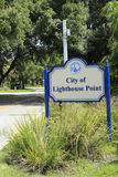 City of Lighthouse Point Sign Royalty Free Stock Images