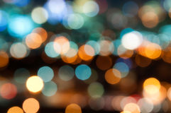 City lights. Out of focus big city lights Stock Photo