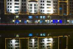 City lights. Reflect in the night water Stock Image