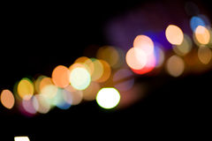 City Lights. Blurred and defocused lights in night city Stock Photo